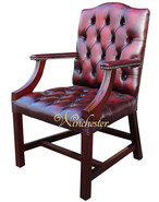 Chesterfield Gainsborough Chair - Traditional Stand Antique Oxblood Leather