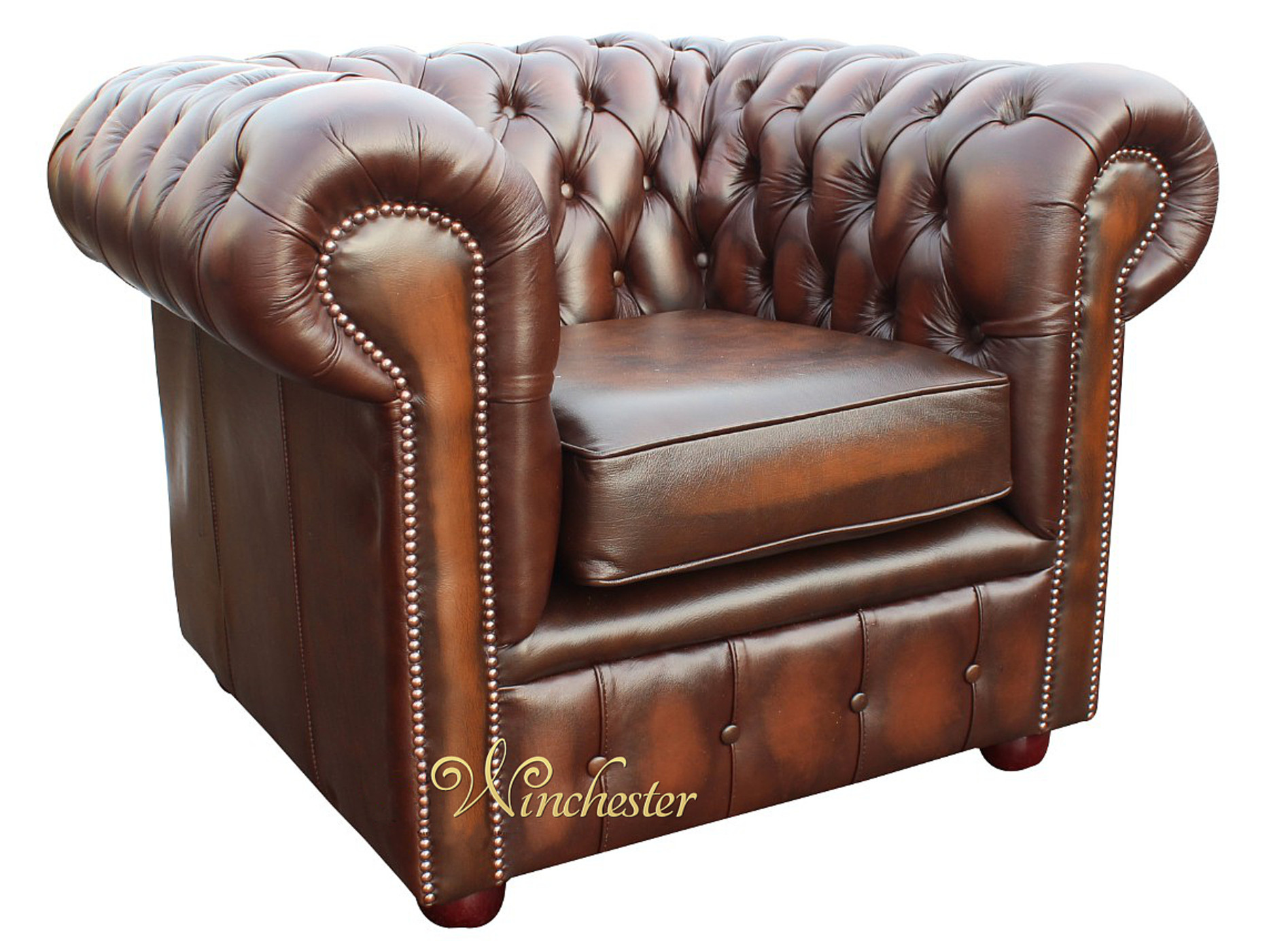Chesterfield London 1 Seater Club Chair Antique Brown Wc