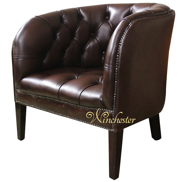 chesterfield jasper low back tub chair uk manufactured antique brown