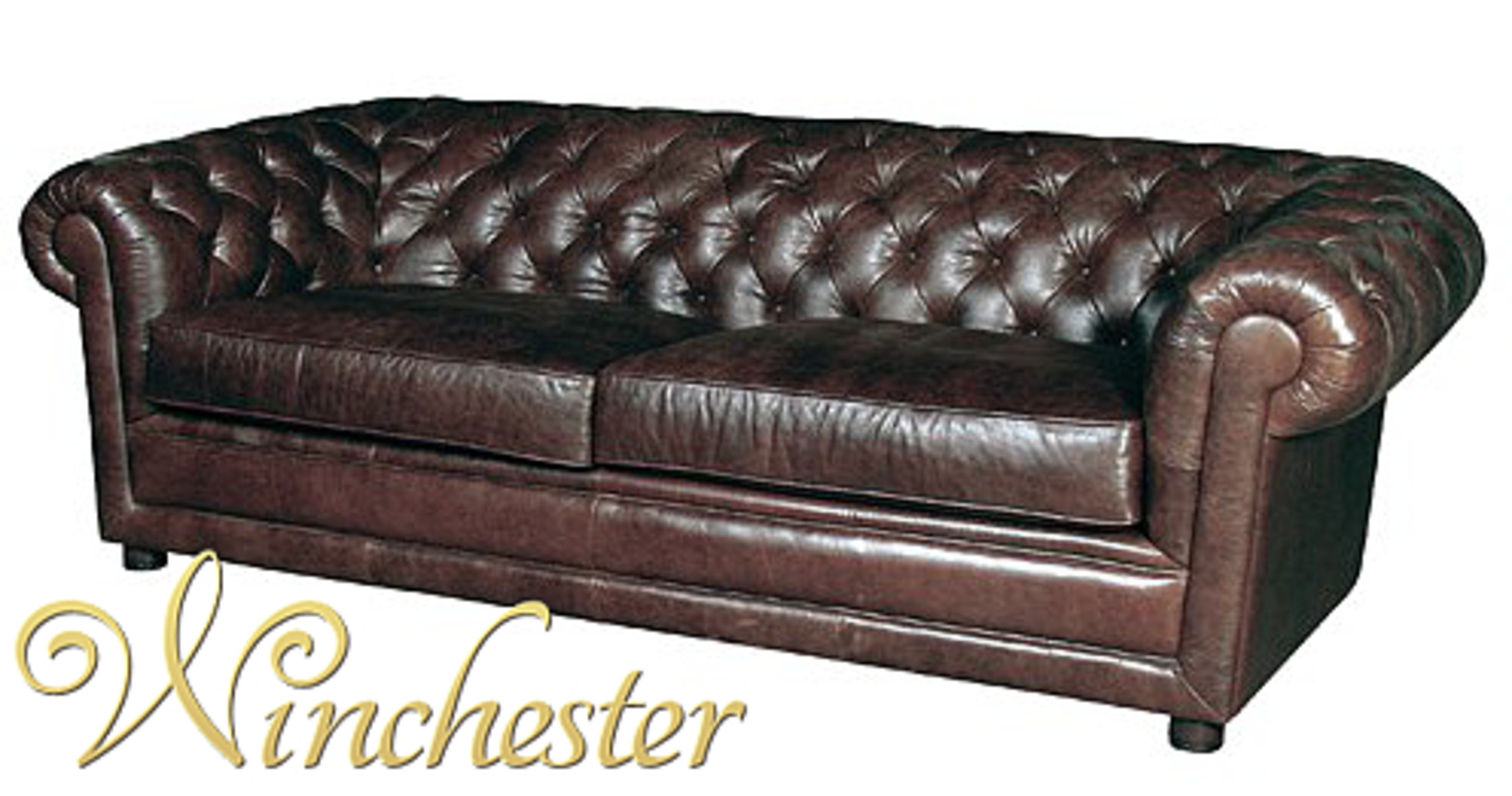 Chamberlain Chesterfield 3 Seater Leather Sofa Settee Wc