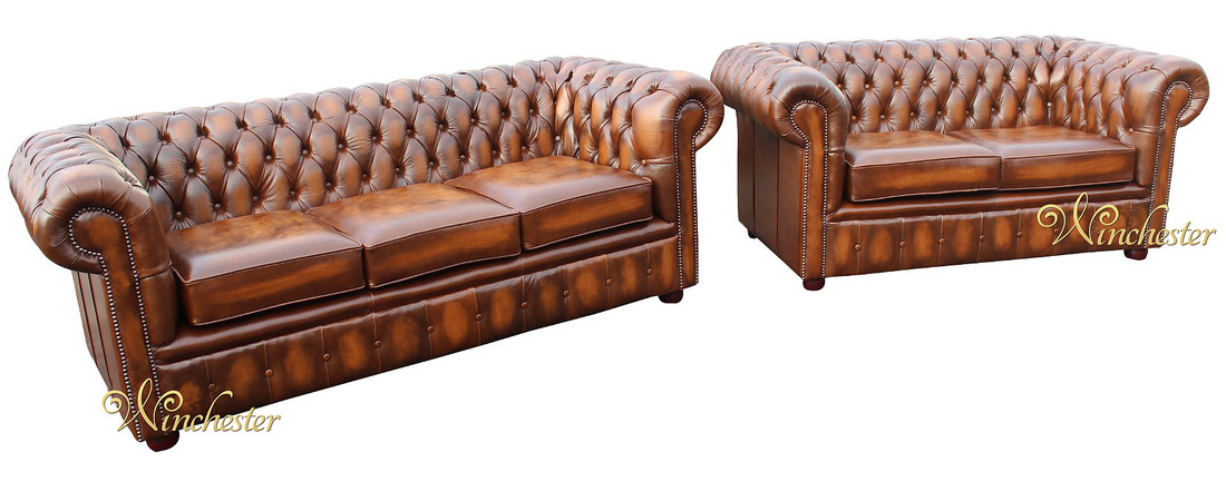 Chesterfield 3 2 London Antique Tab Leather Sofa Suite Wc
