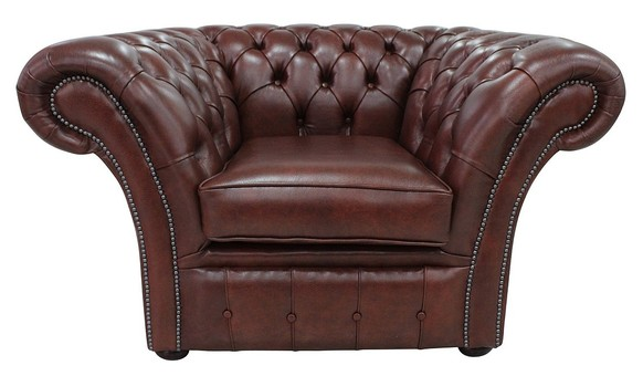 Chesterfield Balmoral Club Chair Byron Conker Leather