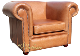 Chesterfield Berkeley Low Back Club ArmChair Old English Tan Leather