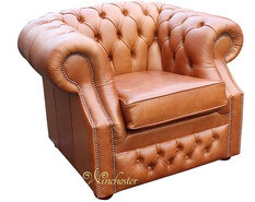 Chesterfield Buckingham Club ArmChair Aniline Old English Tan Leather