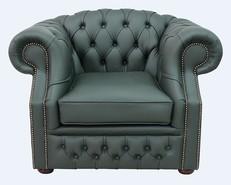 Chesterfield Buckingham Club ArmChair Shelly Forest Green Leather