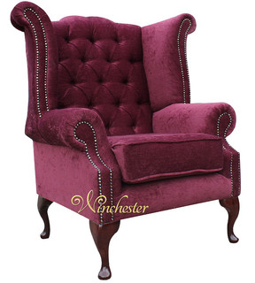 Fabric Queen Anne Chairs