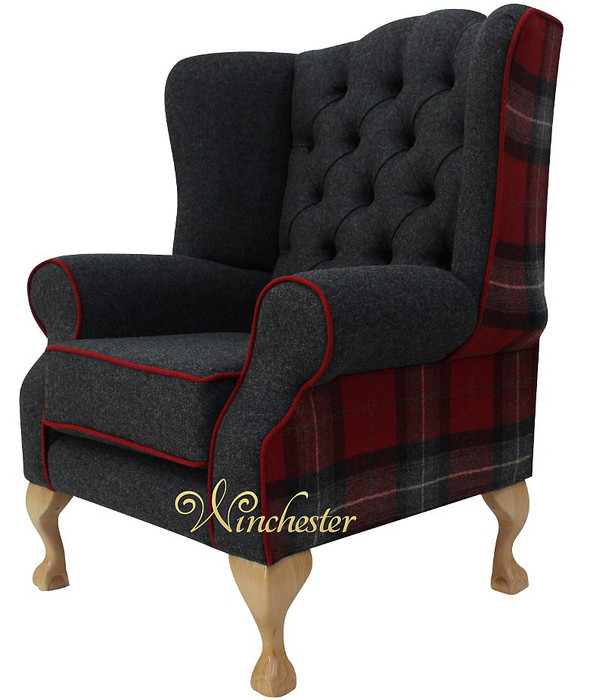 Chesterfield frederick wing chair fireside high back for Armchair with high back