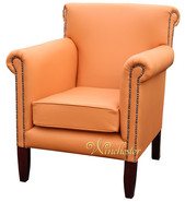Chesterfield Havana Arm Chair Bran Leather UK Manufactured