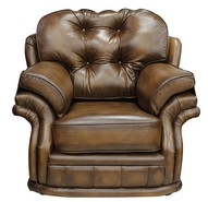 Chesterfield Knightsbridge 1 Seater Armchair Traditional Chesterfield Chair Antique Tan leather