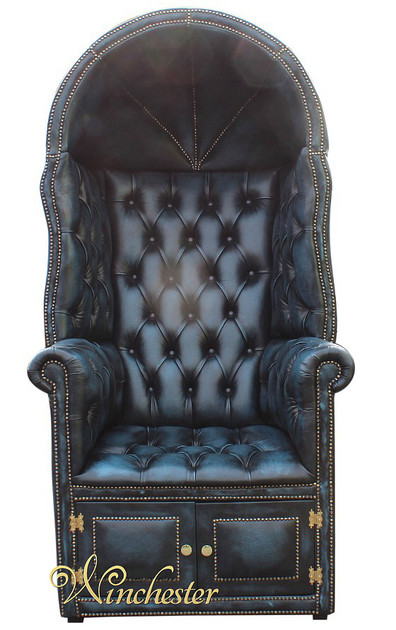 Chesterfield Porter S Chair Antique Blue Uk Manufactured