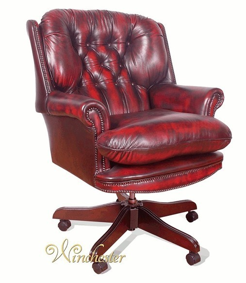 Chesterfield Presidents Leather Office Chair