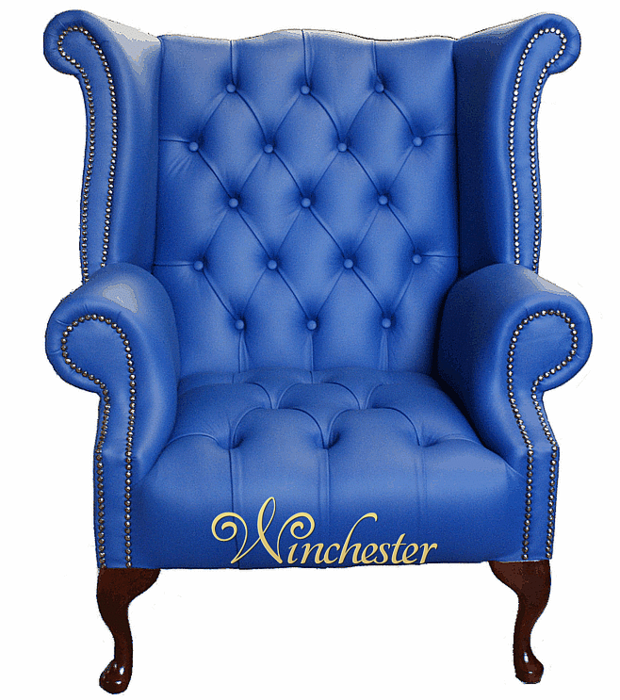 Queen Anne Armchair Uk Handmade Chesterfield Queen Anne High Back