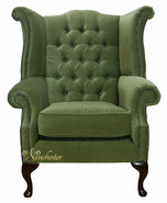 Winchester Albury Wing Chair Sage Green