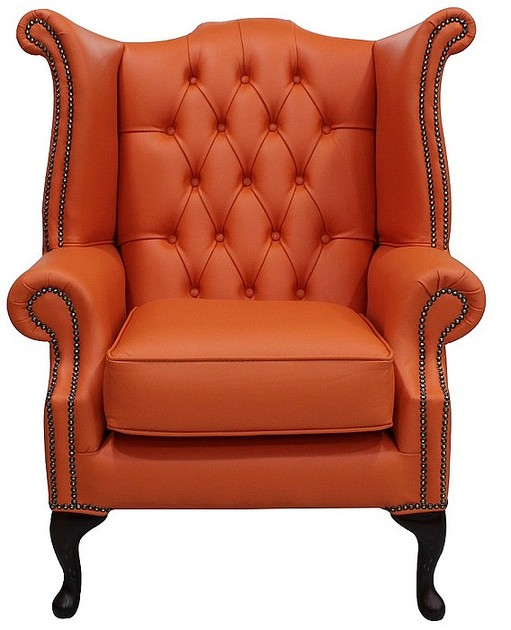 Flamenco Chesterfield High Back Wing Chair Designersofas4u