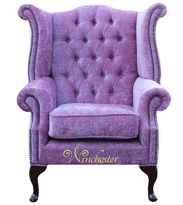chesterfield fabric queen anne high back wing chair flamenco crush carnation leather sofas. Black Bedroom Furniture Sets. Home Design Ideas