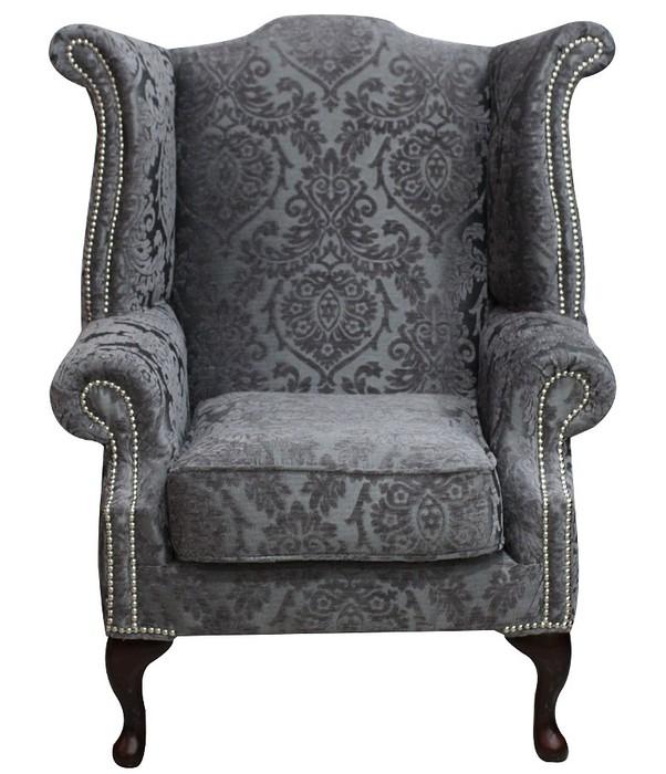 Chesterfield Sofa Saxon: Mist Fabric Chesterfield Saxon Chair
