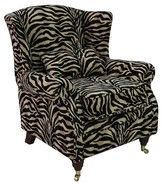 Wing Chair Fireside High Back Armchair Antelope Gold