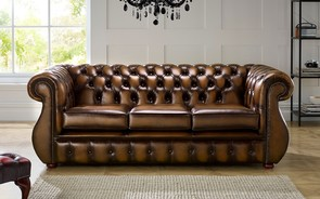 Chesterfield Kimberley Leather Sofa Antique Autumn Tan