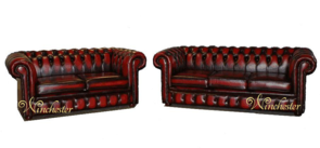 Chesterfield 3+2 Leather Sofa Offer