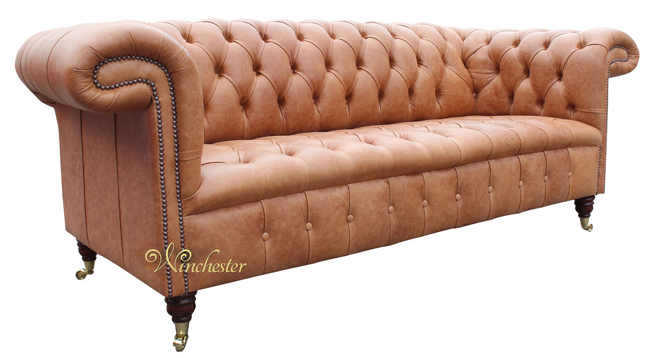 ... Chesterfield 1857 Old English Saddle Leather Sofa Wc ...