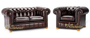 Chesterfield Leather Sofa, UK Manufactured