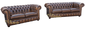 Chesterfield 3+2 Antique Autumn Tan Leather Sofa Offer