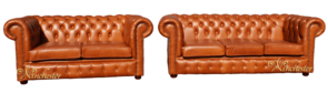 Chesterfield 3+2 Seater Settee Old English Tan Leather Sofa Suite