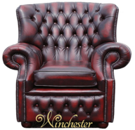 Chesterfield Abbot High Back Wing Chair UK Manufactured Armchair
