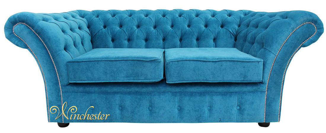 Chesterfield Balmoral 2 Seater Sofa Settee Danza Teal