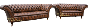 Chesterfield Balmoral 3+2 Seater Leather Sofa Offer