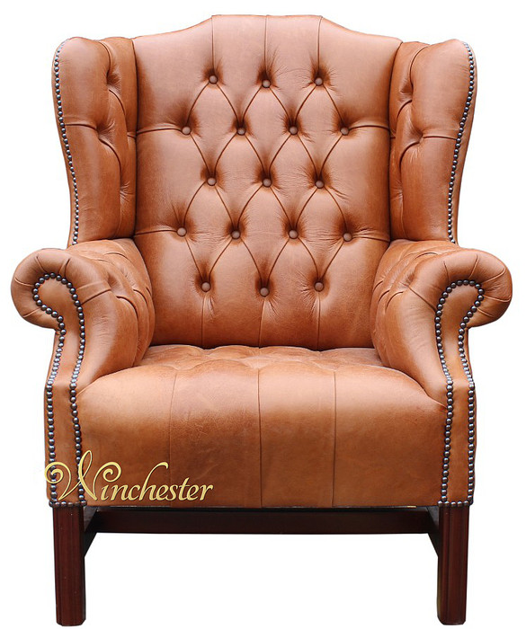 chesterfield churchill high back wing chair uk manufactured old english tan leather sofas. Black Bedroom Furniture Sets. Home Design Ideas