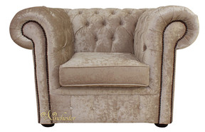 62dd3759f378 Chesterfield Low Back Club ArmChair Senso Oyster Velvet Fabric
