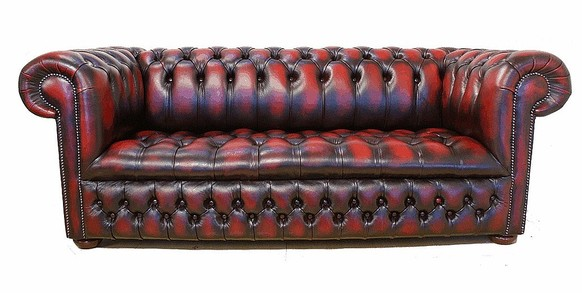 Chesterfield Edwardian Leather Sofa Offer Antique Oxblood