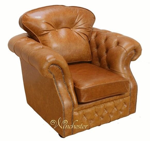 Chesterfield Era High Back Wing Chair Oil Pull Up Leather UK Manufactured Armchair