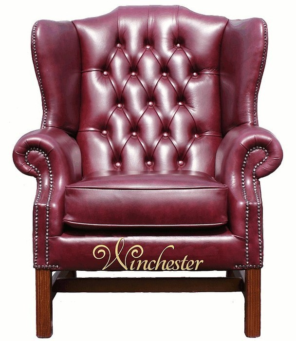 chesterfield georgian high back wing chair uk manufactured old english burgandy leather sofas. Black Bedroom Furniture Sets. Home Design Ideas