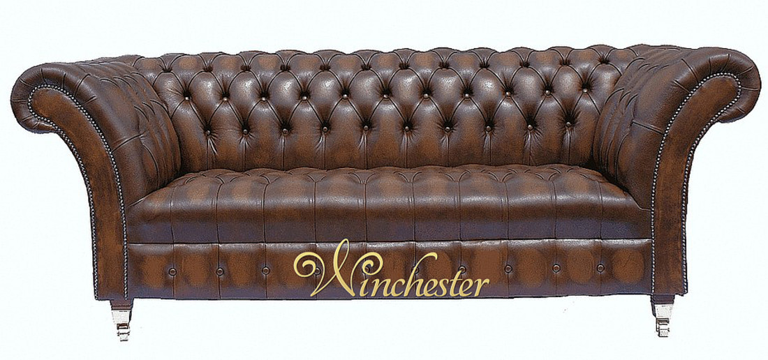 Chesterfield Grosvenor Leather Sofa Wc