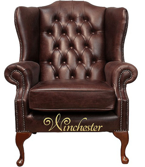 large brown leather chair chesterfield highclere high back wing chair uk 16352 | chesterfield highclere high back wing chair uk manufactured hand dyed old english dark brown leather wc (product large)