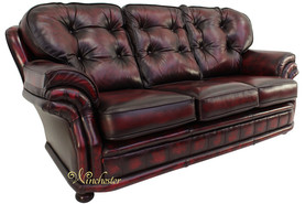 Chesterfield Knightsbridge 3 Seater Settee Traditional Chesterfield Sofa Antique Oxblood