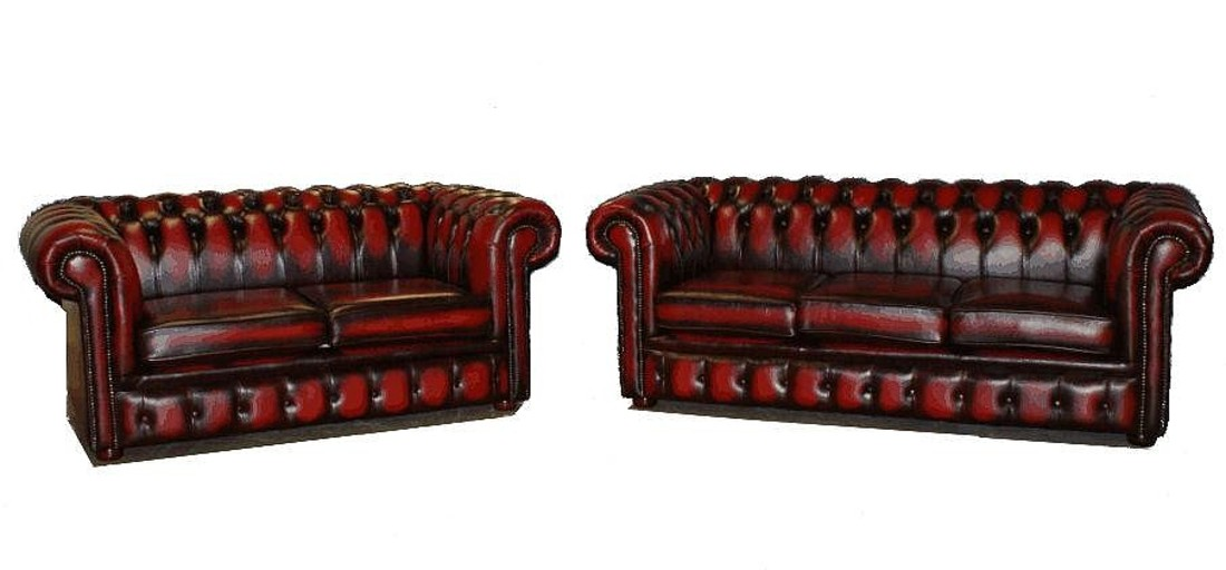 Chesterfield London 3 2 Leather Sofa Suite Offer Antique Oxblood
