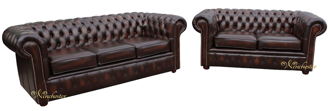 Chesterfield London 3 Seater 2 Sofa Suite