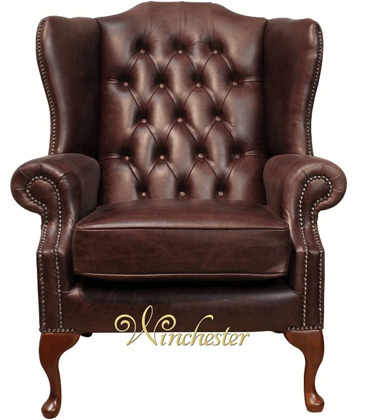 Chesterfield Mallory Wing Chair Hand Dyed Leather Wc