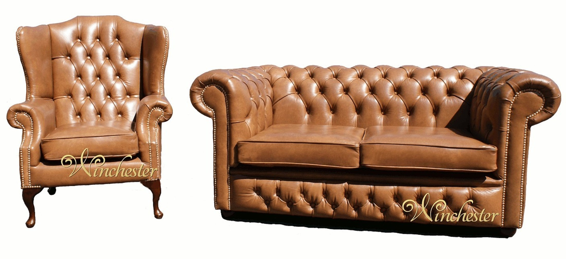 Chesterfield Old English Suite Wing 2 Seater Settee Wc