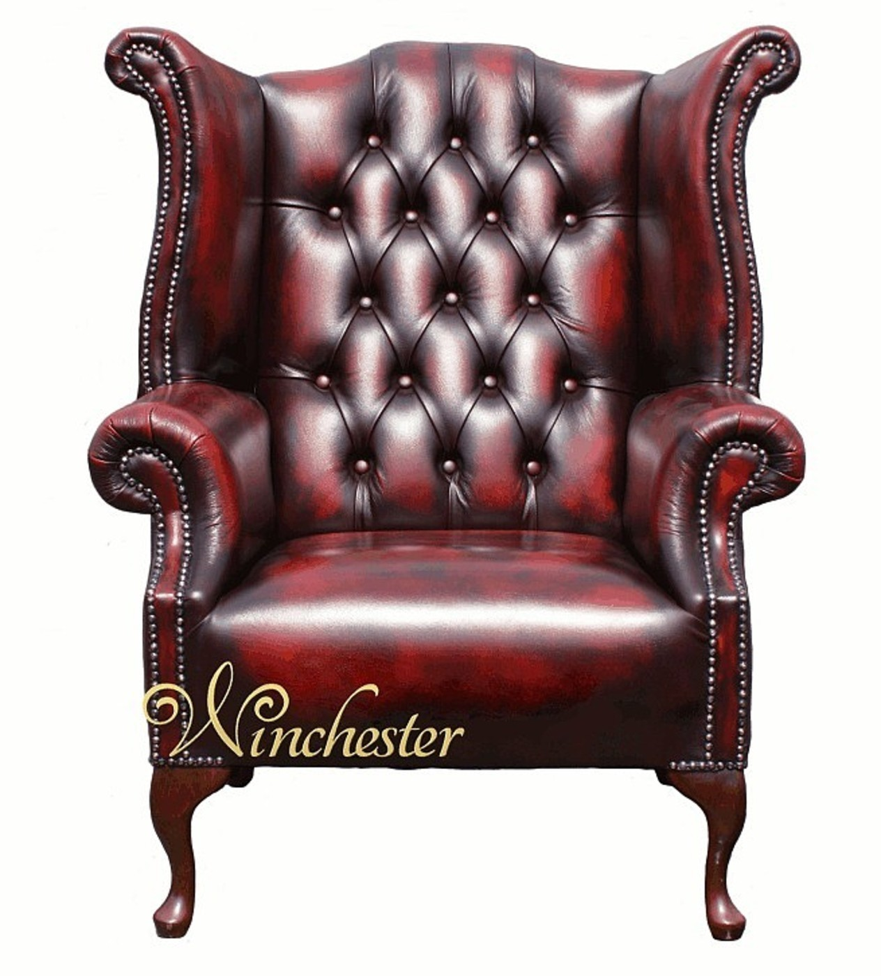 Chesterfield Queen Anne Wing Chair Fixed Seat Wc