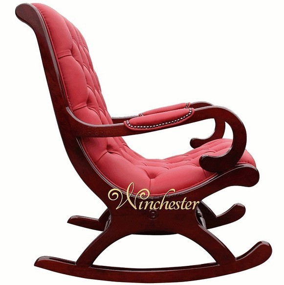 chesterfield york slipper rocking chair red leather leather sofas traditional sofas. Black Bedroom Furniture Sets. Home Design Ideas