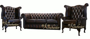 Chesterfield Leather Sofa Offer