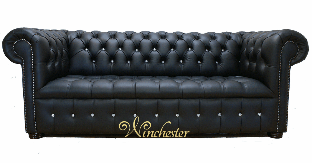 chesterfield 3 seater settee swarovski crystallized. Black Bedroom Furniture Sets. Home Design Ideas