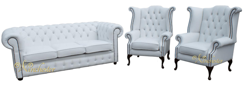 chesterfield 3 1 1 swarovski crystallized diamond white. Black Bedroom Furniture Sets. Home Design Ideas