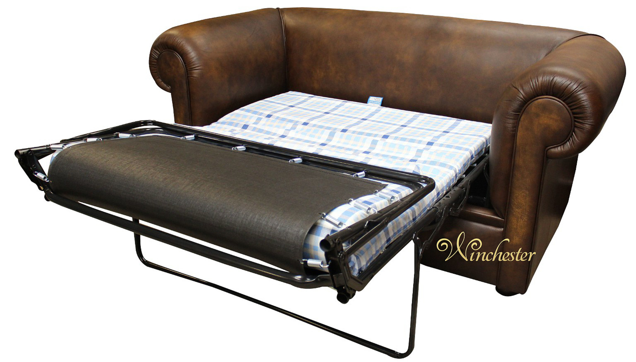 Picture of: Chesterfield 1930 S 2 Seater Sofa Bed Antique Gold Leather