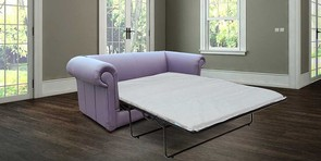 Chesterfield 1930's 3 Seater Settee Sofabed Amethyst Purple Leather