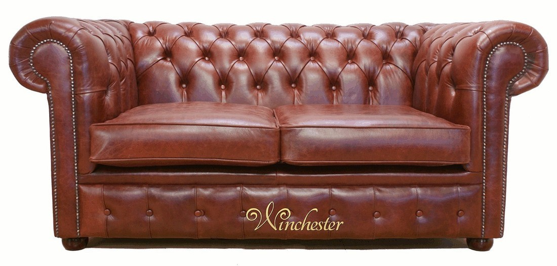 Chestnut Leather Sofa New Cina 3 Seater Italian Real